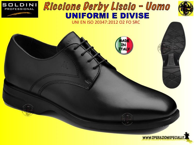 Operazioni Speciali - Riccione scarpa Derby Liscio Uomo 46325 Soldini 4f51a10a74f