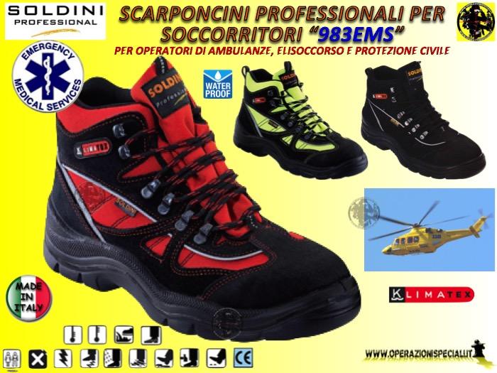Scarponcino per Soccorritore 983 EMS Soldini