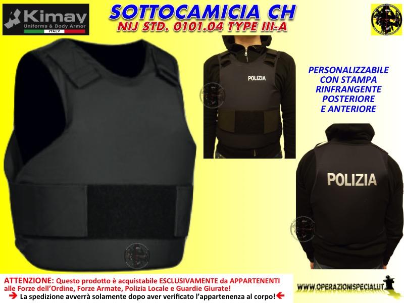 Giubbotto antiproiettile sottocamicia polizia