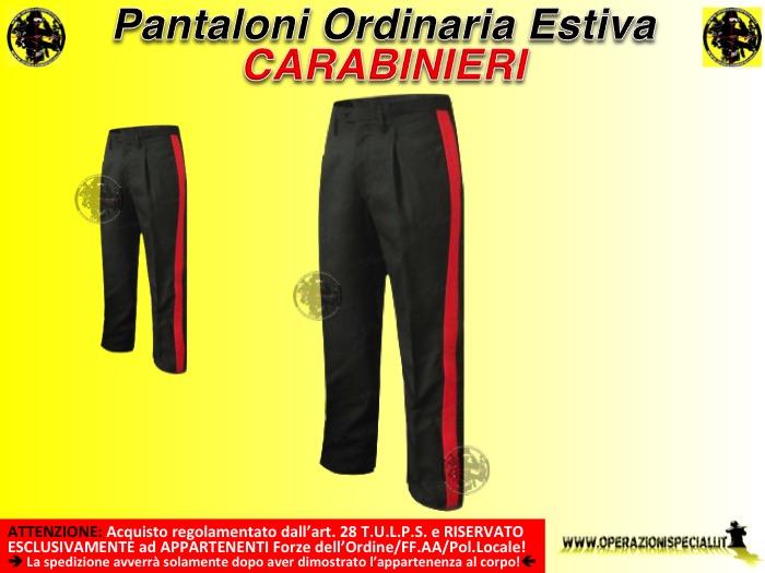 codice promozionale efb87 d8e26 Ordinaria Divisa Divisa Pantaloni Carabinieri Ordinaria ...