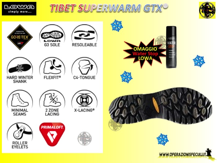 36e8bf6390be2 Tibet Superwarm GTX scarponcino caccia LOWA (+ omaggio)  Ardesia (slate -  0997) 40 (6.5 UK - 257mm)